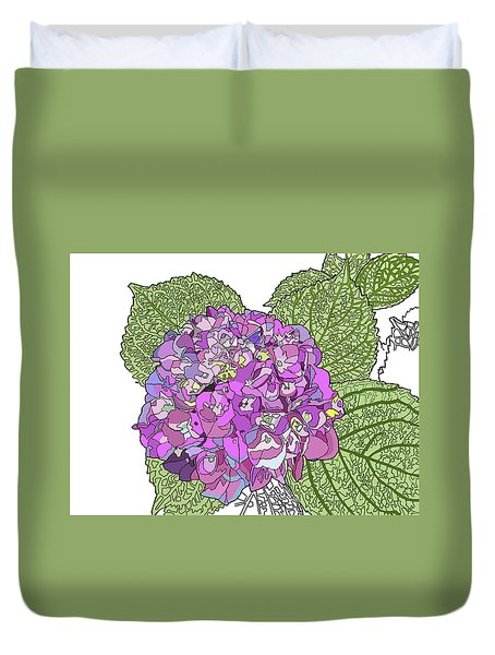 Hydrangea Duvet Cover by Jamie Downs