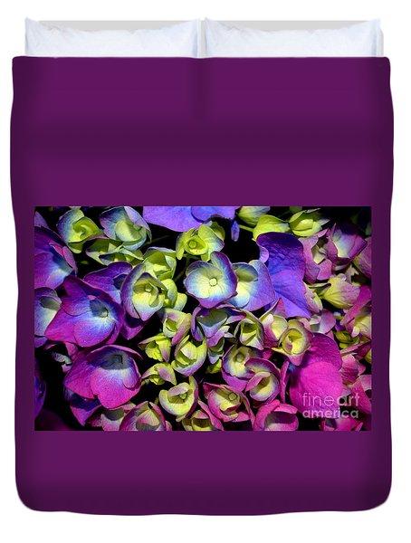 Duvet Cover featuring the photograph Hydrangea by Vivian Krug Cotton