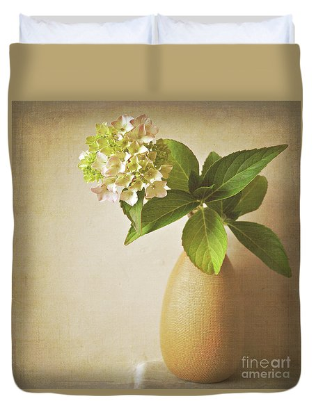 Hydrangea With Leaves Duvet Cover