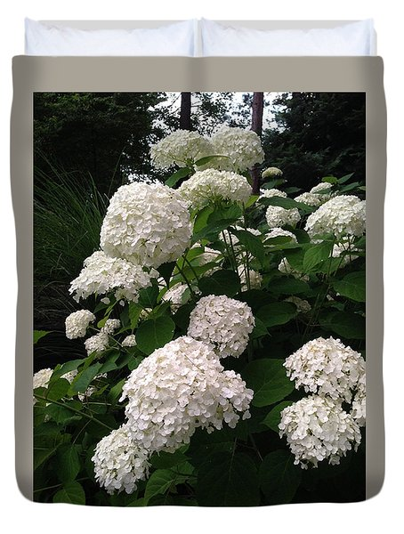 Duvet Cover featuring the photograph Hydrangeas by Ferrel Cordle