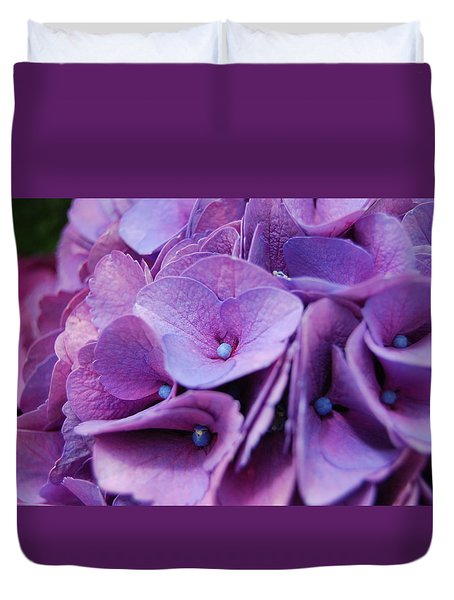 Duvet Cover featuring the photograph Hydrangeas by Jocelyn Friis
