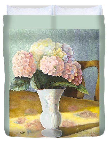 Hydrangeas Duvet Cover by Marlene Book