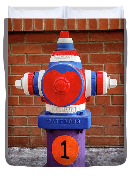 Hydrant Number One Duvet Cover by James Eddy