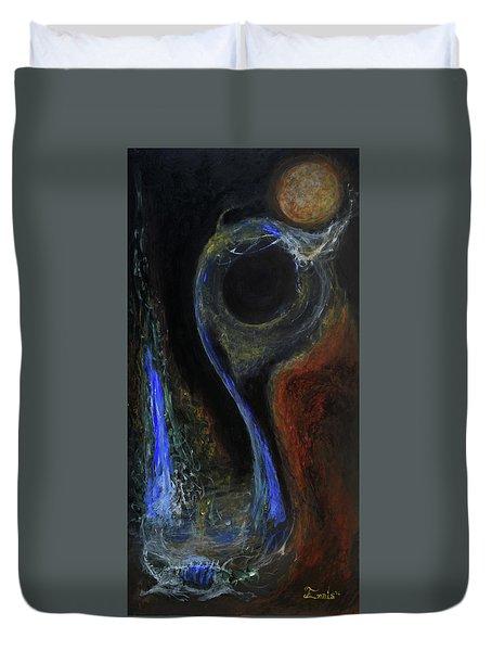 Hydrogen Fiend Duvet Cover by Christophe Ennis
