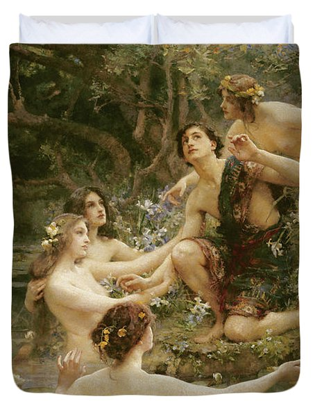 Hylas And The Water Nymphs Duvet Cover