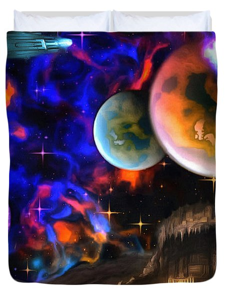 Hyperactivity Sector X66 In The Andromeda Gallaxy Duvet Cover