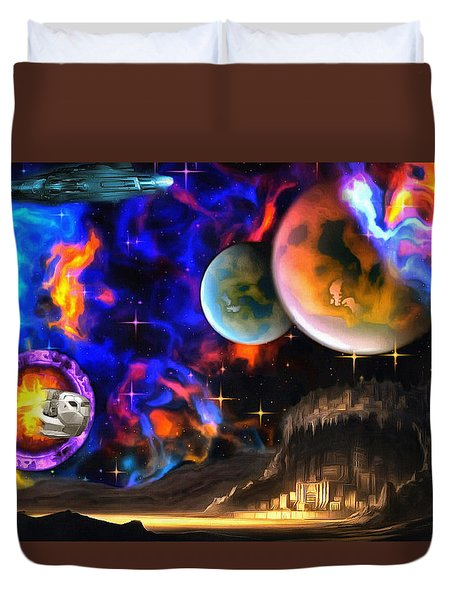 Hyperactivity Sector X66 In The Andromeda Gallaxy Duvet Cover by Mario Carini