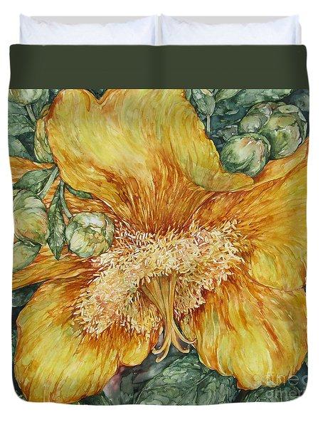 Hypericum Plant Duvet Cover by Kim Tran