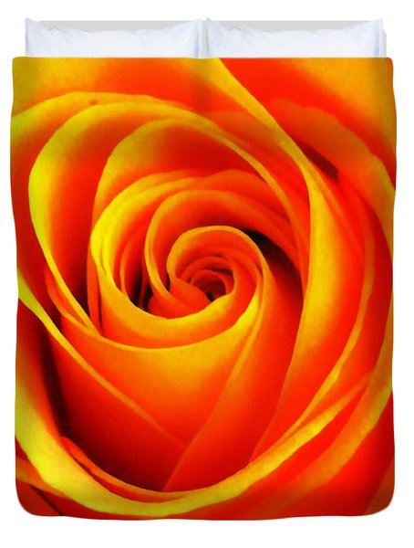 Hypnotic Orange Duvet Cover