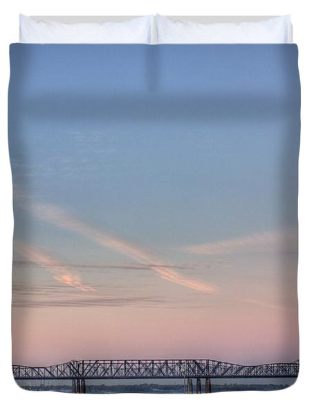 I-55 Bridge Over The Mississippi Duvet Cover