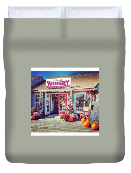Tomasello Winery Duvet Cover