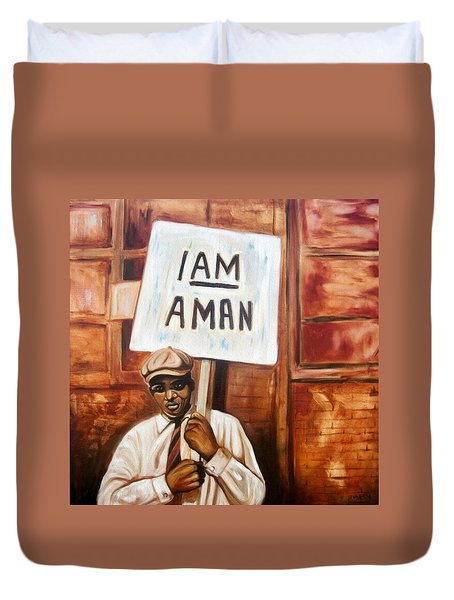 I Am A Man Duvet Cover