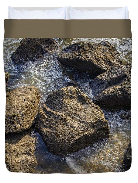 I Am A Rock Duvet Cover