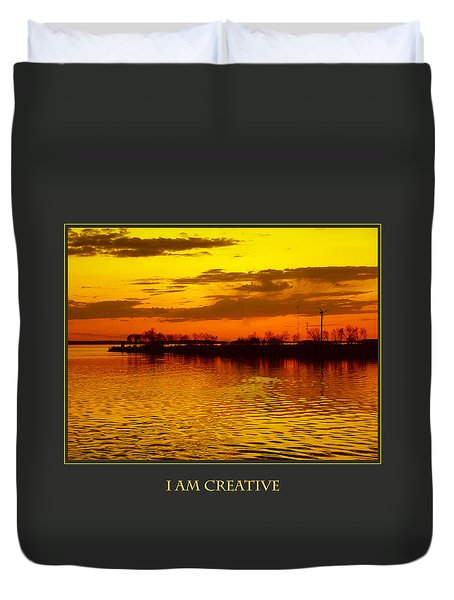 I Am Creative Duvet Cover by Donna Corless