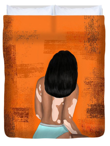 Duvet Cover featuring the digital art I Am Enough by Bria Elyce