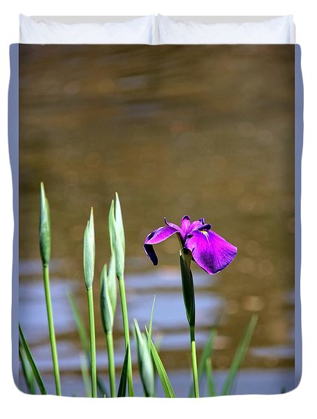 Duvet Cover featuring the photograph I Am First  by Yumi Johnson