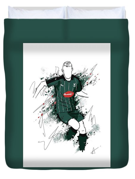 I Am Green And Black Duvet Cover