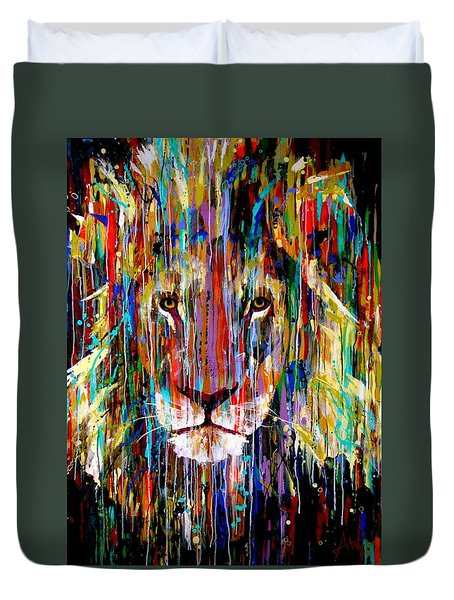 I Am King Large Painting Duvet Cover