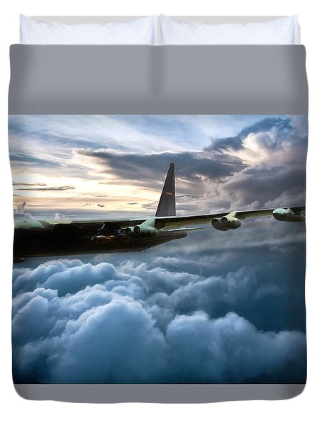 I Am Legend B-52 Duvet Cover by Peter Chilelli