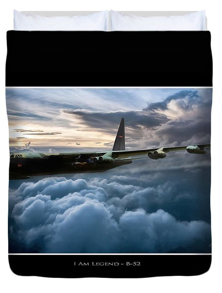 I Am Legend B-52 V2 Duvet Cover by Peter Chilelli