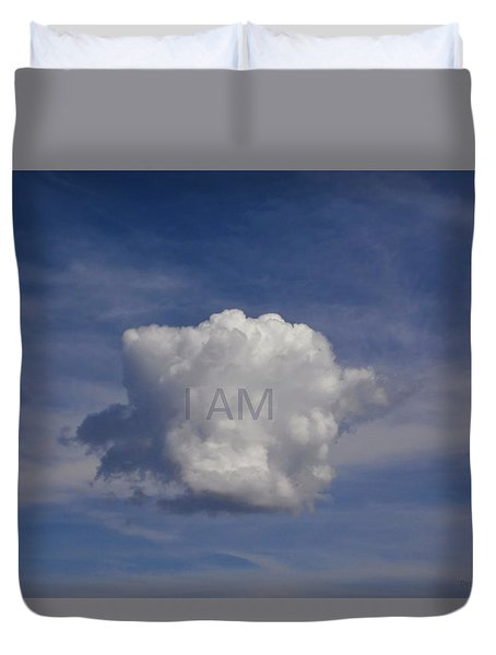 I Am One Cloud Affirmation Duvet Cover