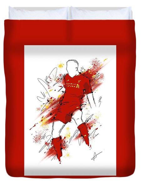 I Am Red #2 Duvet Cover