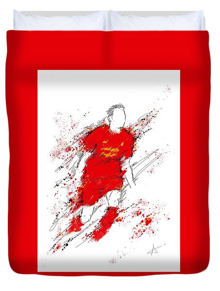 I Am Red Duvet Cover