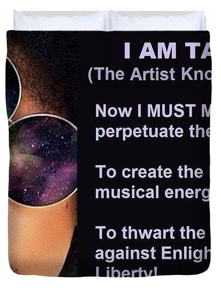 I Am Takapri Duvet Cover