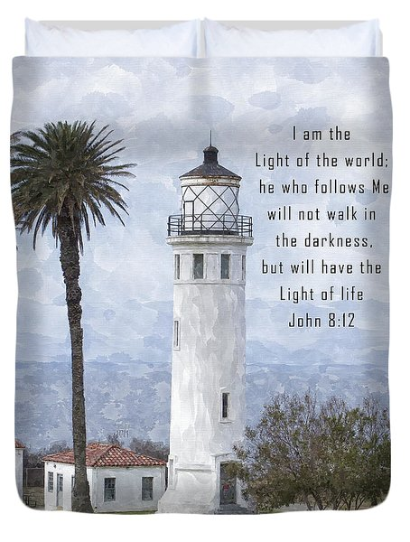 I Am The Light Of The World Duvet Cover