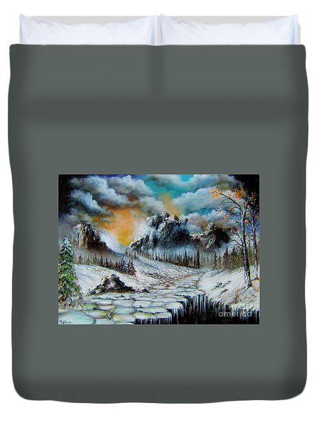 Duvet Cover featuring the painting I Am The World by Patrice Torrillo