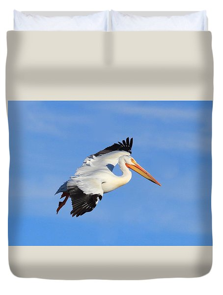 I Beleive I Can Fly Duvet Cover by Lynn Hopwood
