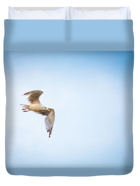 Duvet Cover featuring the photograph I Believe I Can Fly by Joel Witmeyer