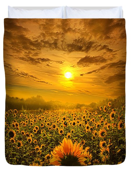 I Believe In New Beginnings Duvet Cover by Phil Koch