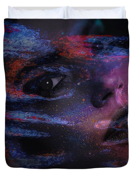 I Breathe Art Therefore I Am Art Duvet Cover