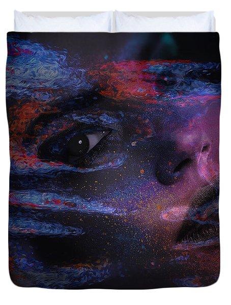 I Breathe Art Therefore I Am Art Duvet Cover