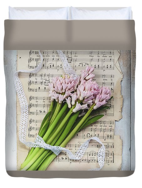 Duvet Cover featuring the photograph I Can Hear Music by Kim Hojnacki