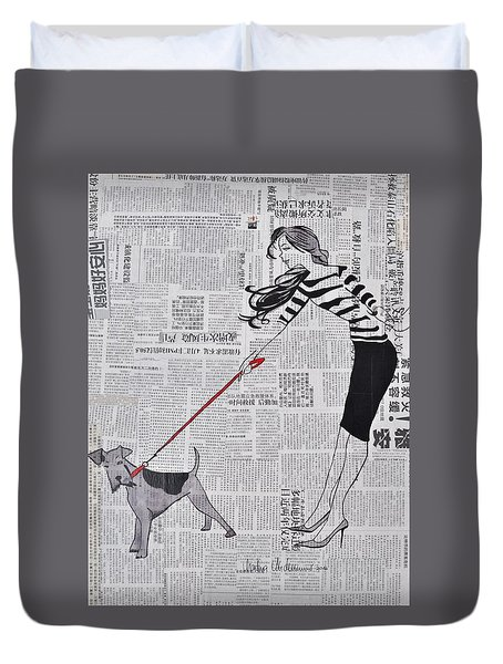 I Count You Twice Duvet Cover