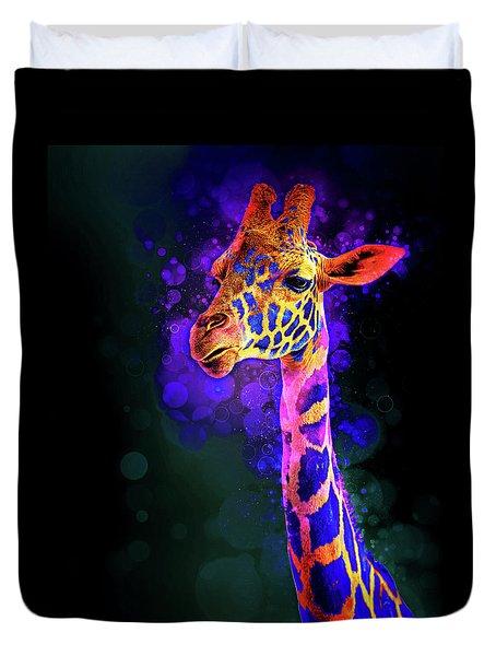 I Dreamt A Giraffe Duvet Cover