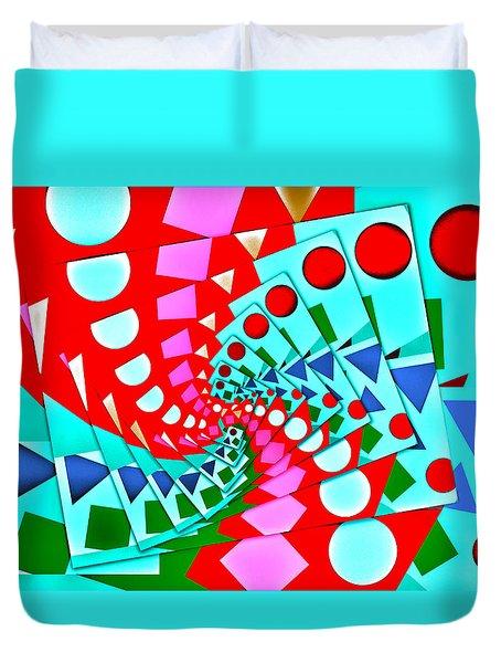 Duvet Cover featuring the digital art I Fell Way Too Deep II by Aurelio Zucco