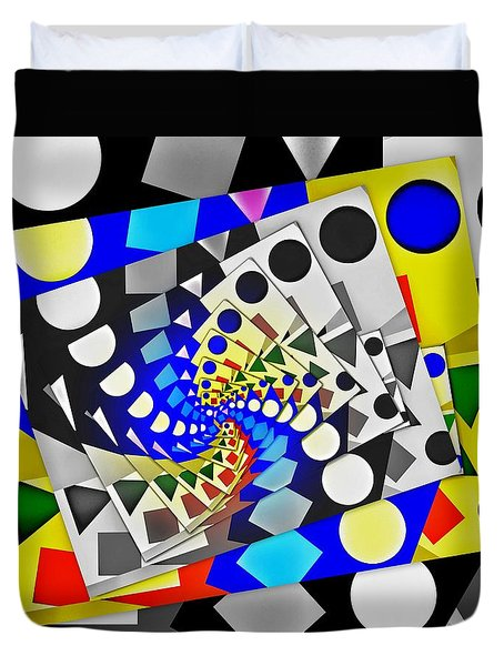 Duvet Cover featuring the digital art I Fell Way Too Deep IIi by Aurelio Zucco