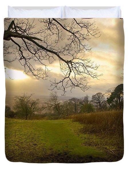 I Follow The Sunset. Duvet Cover