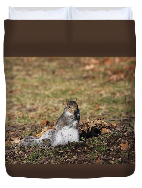 Duvet Cover featuring the photograph I Found Something To Eat... by Vadim Levin