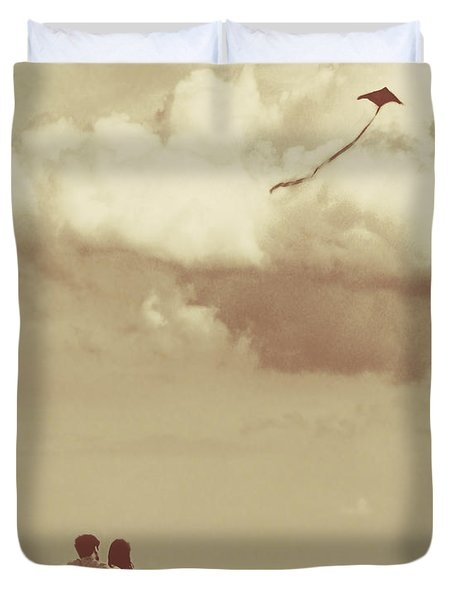 I Had A Dream I Could Fly From The Highest Swing Duvet Cover