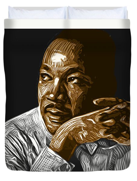 Duvet Cover featuring the digital art I Have A Dream . . . by Antonio Romero