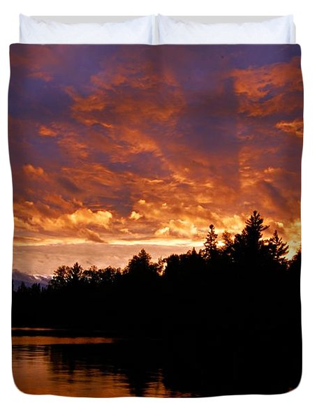 I Have Seen Rain And I Have Seen Fire Duvet Cover by Larry Ricker