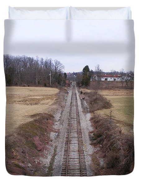 I Hear That Train A Comin' Duvet Cover