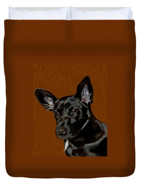 I Hear Ya - Dog Painting Duvet Cover