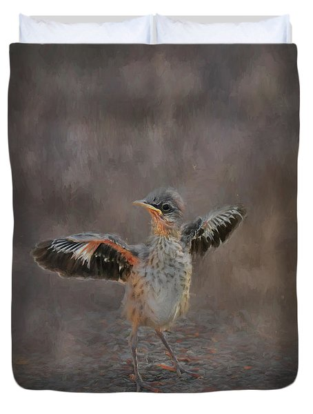 I Know I Can Fly Duvet Cover