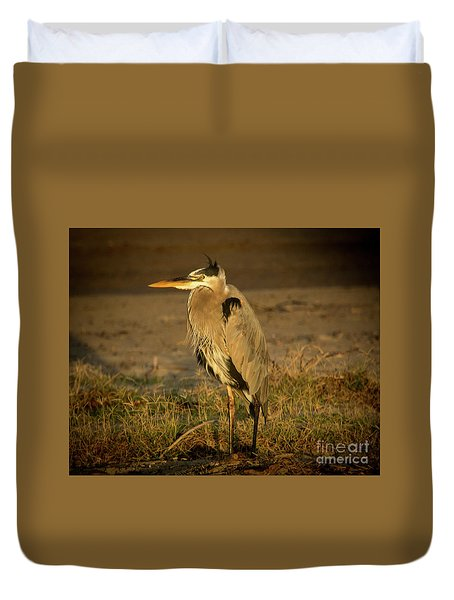I Know They Are Coming Wildlife Art By Kaylyn Franks Duvet Cover