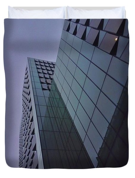 I Love All The Glass Buildings Around Duvet Cover